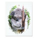 """Koala Cuddle Invitation 4.25"""" X 5.5"""" Invitation Card"""