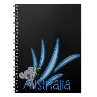 Koala de Australia Libros De Apuntes Con Espiral
