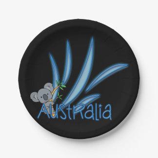 Koala de Australia Platos De Papel