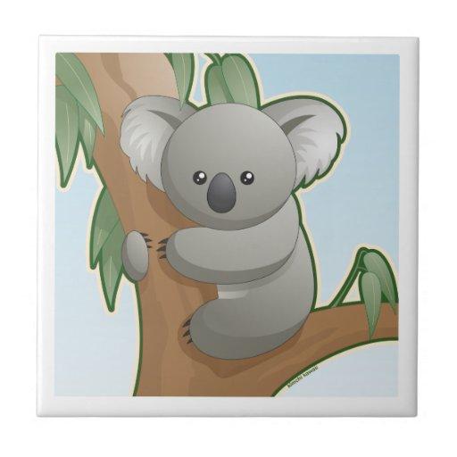 Koala de Kawaii Azulejo Cuadrado Pequeño