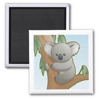 Koala de Kawaii Imán Cuadrado