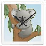 Koala de Kawaii Reloj De Pared