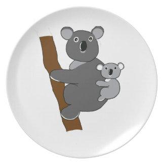 Koala de la mamá platos de comidas