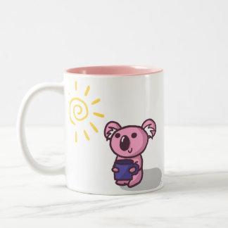 Koala de la sol - rosa taza de dos tonos