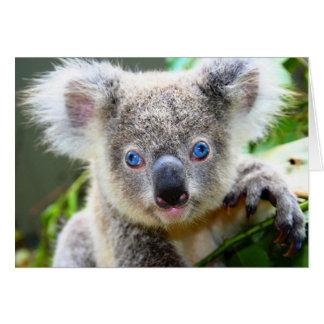 """Koala de los azules de bebé"" Tarjeta Pequeña"