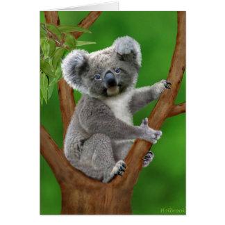 Koala de ojos azules del bebé tarjeta de felicitación