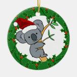 Koala de Santa - Dinkum justo Adorno Redondo De Cerámica