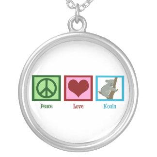 Koala del amor de la paz joyeria personalizada