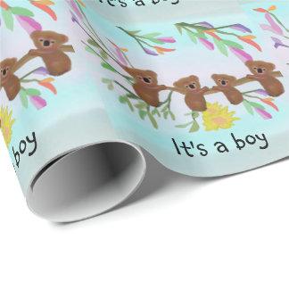 Koala del bebé es un muchacho papel de regalo