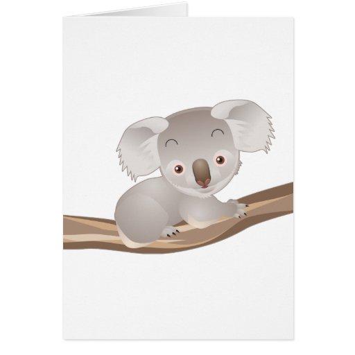 Koala del bebé felicitación