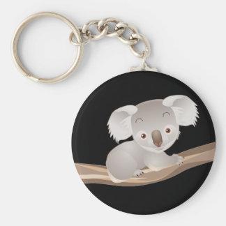 Koala del bebé llavero redondo tipo pin