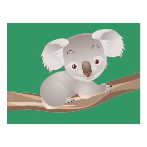 Koala del bebé postales