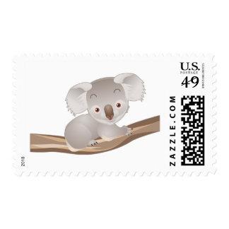 Koala del bebé timbre postal