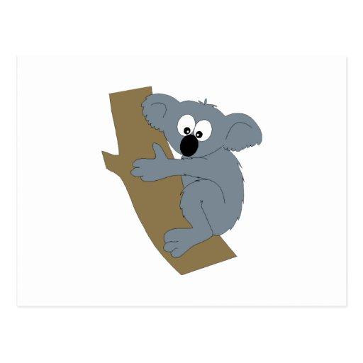 Koala del dibujo animado postal
