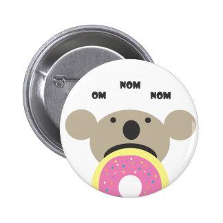 Koala Donut Diet 2 Inch Round Button