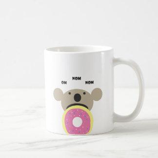 Koala Donut Diet Classic White Coffee Mug