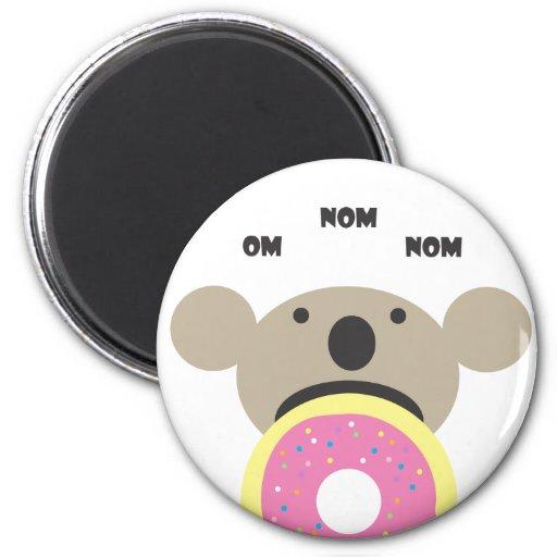Koala Donut Diet Refrigerator Magnets