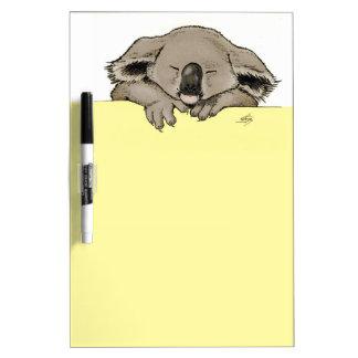 koala el dormir pizarra blanca