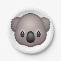 Koala - Emoji Paper Plate