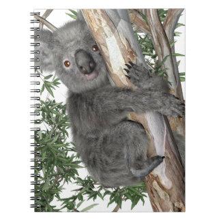 Koala en un árbol spiral notebooks