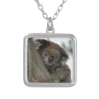Koala - Energy Conservationist Extraordinaire! Silver Plated Necklace