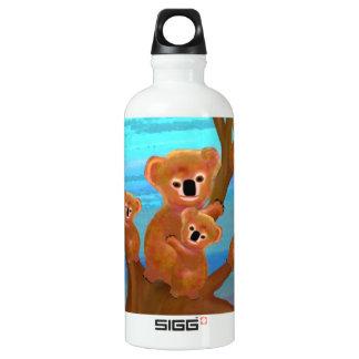 Koala Family Love Aluminum Water Bottle
