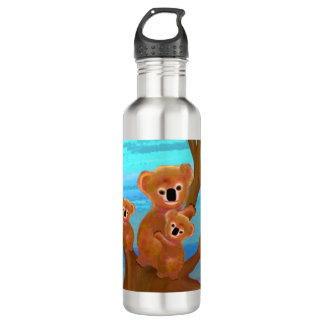 Koala Family Love Water Bottle