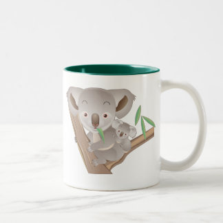 Koala Family Two-Tone Coffee Mug