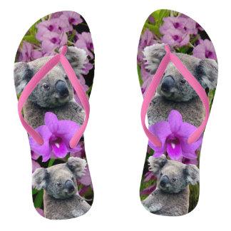 Koala Flip Flops, Slim Straps Flip Flops