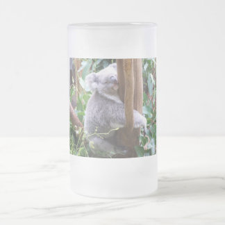 Koala Frosted Glass Beer Mug