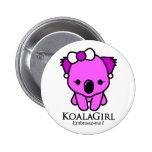 Koala Girl Pin Redondo De 2 Pulgadas