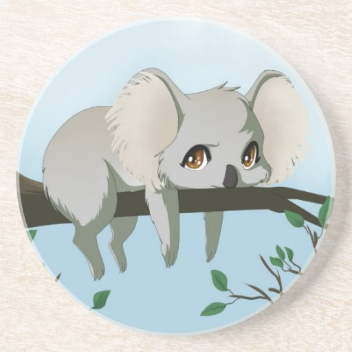 Koala gruñona posavasos personalizados