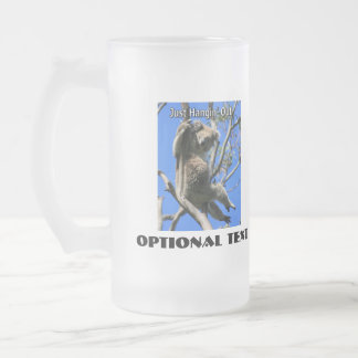 Koala Hanging Out in Australia Frosted Glass Beer Mug