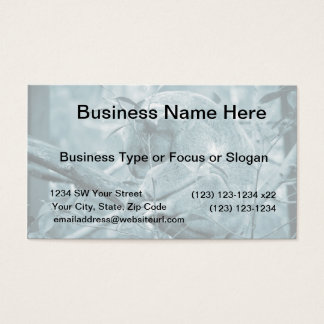 koala head down sleeping blue c business card