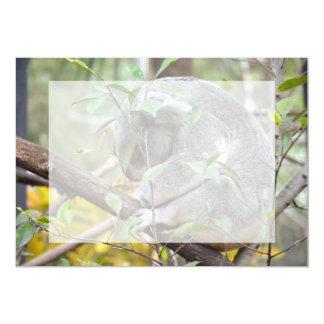koala head down sleeping c 5x7 paper invitation card