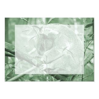 koala head down sleeping green c 5x7 paper invitation card