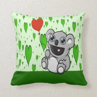 Koala Heart Balloon Throw Pillow