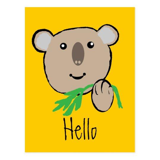 koala, Hello Postcard