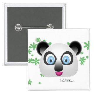 Koala, i care 2 inch square button