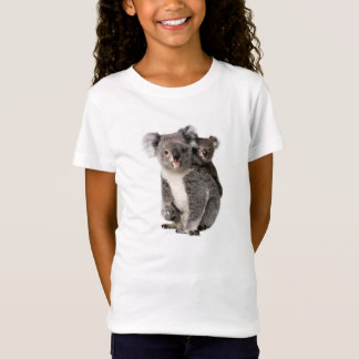 Koala image for Girls-T-Shirt-White T-Shirt