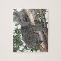Koala in a Tree Jigsaw Puzzle