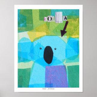 Koala! in Green Posters