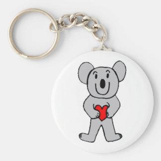 Koala in Love Keychain