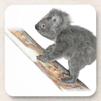 Koala In Profile Climbing Beverage Coaster