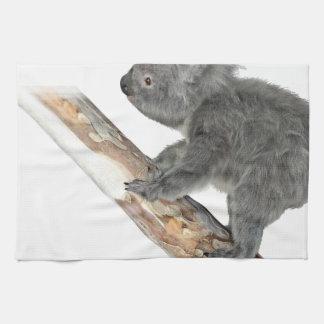 Koala In Profile Climbing Kitchen Towel