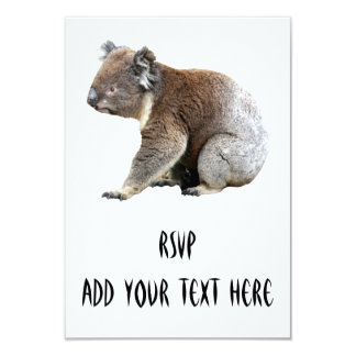 Koala 3.5x5 Paper Invitation Card