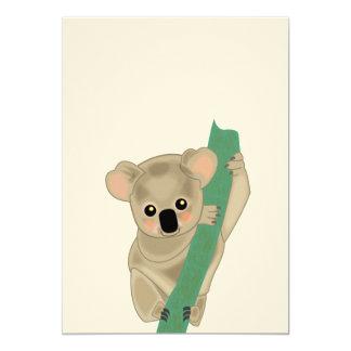 Koala 5x7 Paper Invitation Card