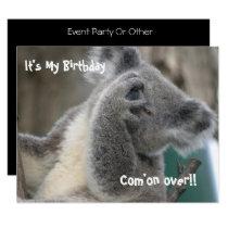 Koala Invite Birthday Party