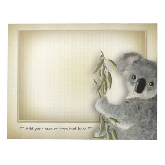 Koala linda bloc de notas