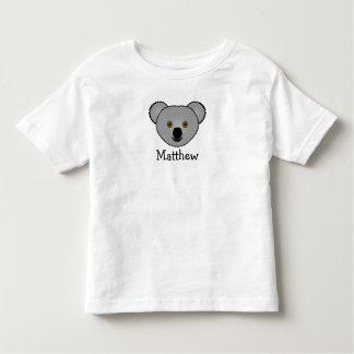 Koala linda del dibujo animado personalizada con playera de bebé
